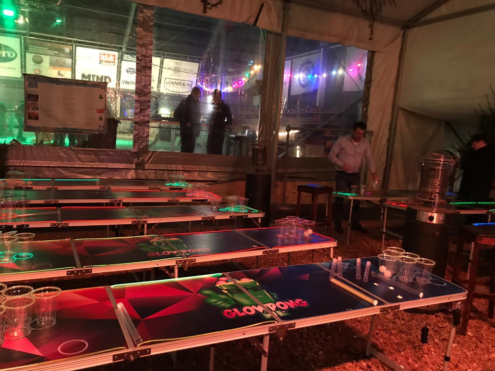 Glowpong toernooi op locatie in Brabant